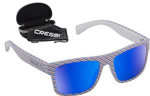 Cressi Spike Sunglasses Gafas de Sol Deportivo Unisex Adulto, Turquesa Waves Fantasy/Lentes Fume, Talla única