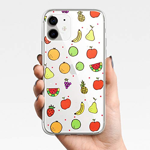 KBFHD Funda de teléfono para iPhone 11 Funda para iPhone 11 Pro XR 7 X XS MAX 8 6 6S Plus 5 5S SE Silicona Fruta piña Cubierta