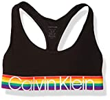 Calvin Klein Women's Modern Cotton-Bralette, Black Rainbow, L