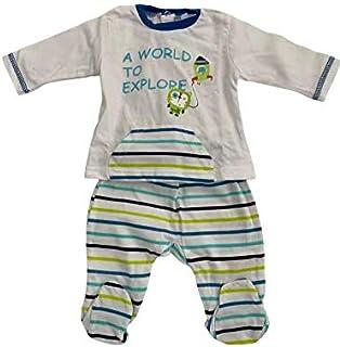 Yatsi 7025- Conjunto dos piezas para tu Bebé. Recién Nacido. Color: Blanco. Talla 0 meses