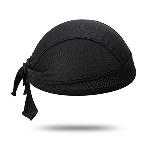 sourcing map Sports Plein air Polyester Noir vélo Vélo écharpe Bandeau Pirate Chapeau Cap