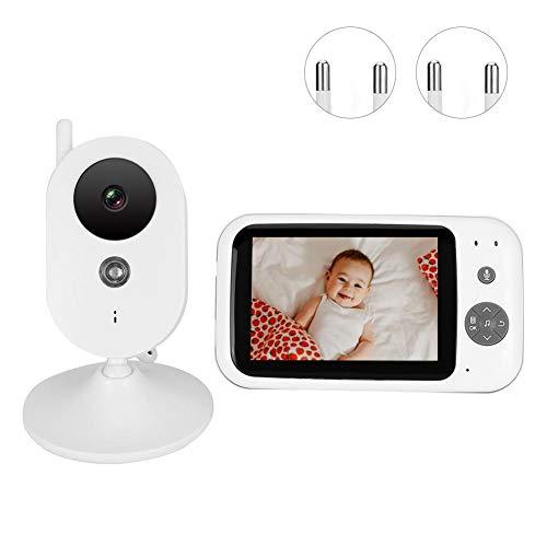 Baby monitor wireless da 3,2 pollici con video, citofono bidirezionale, rilevatore di pianto con sensore di temperatura, risparmio energetico(Unione Europea)