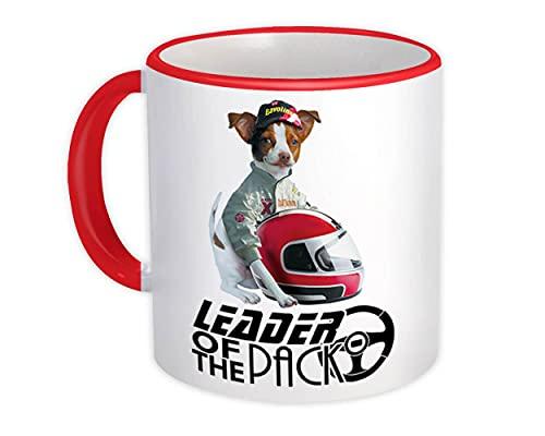 Casco Racer Jack Russell Terrier : Taza de Regalo : Perro Mascota Líder del animal de carga Lindo