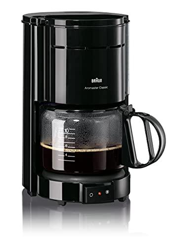 Braun KF 47/1 ekspres do kawy z filtrem, do klasycznej kawy filtrowanej, aromatyczna kawa dzięki systemowi OptiBrew, zatrzymanie kapania, automatyczne wyłączanie, kolor czarny