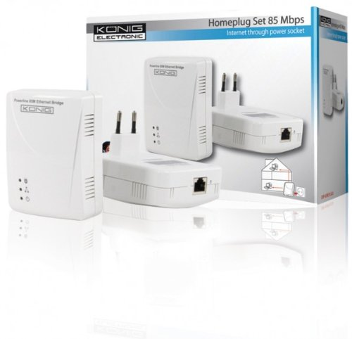 König CMP-HOMEPLUG26 Adaptador y Tarjeta de Red Ethernet 85