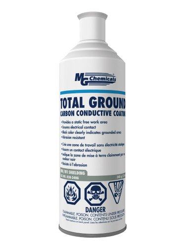 MG Chemicals Total Ground Carbon Conductive Coating, 340 g (12 Oz) Aerosol Can, Dark Grey