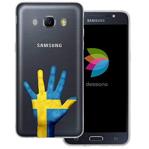 dessana Zweden transparante beschermhoes mobiele telefoon case cover tas voor Samsung Galaxy A J, Samsung Galaxy J5 (2016), Zweden land