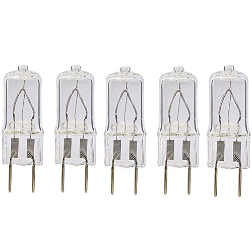 Bulbly WB25X10019 Microwave Light Bulb G8 Bi-Pin Base Replacement for GE 120V 20W Halogen Lamp - 5 Pack