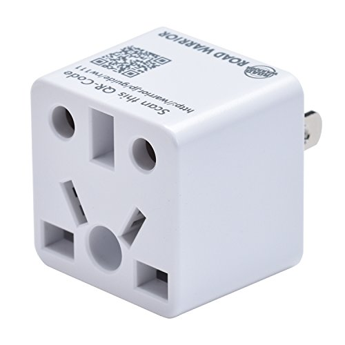 ROAD WARRIOR US Travel Plug Adapter EU/UK/CN/AU/IN to USA (Type A) - RW111WH-US