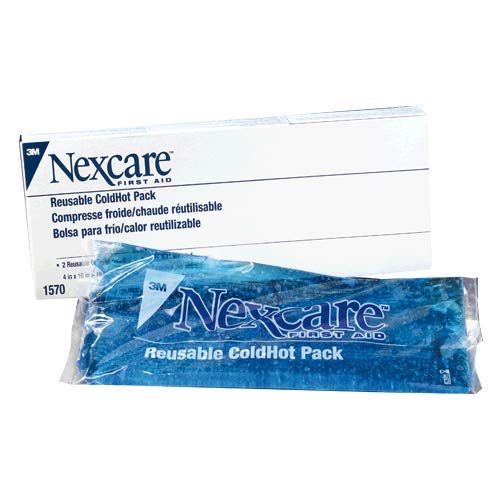 """3M 4"""" X 10"""" Nexcare Reusable Gel Cold or Hot Pack With Cover (2 Per Box)"""