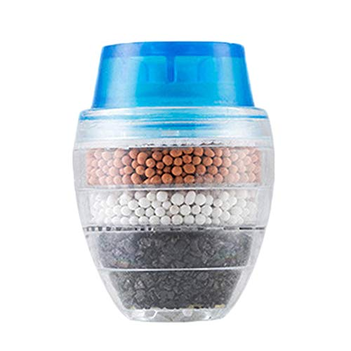 hangzhoushiJacob Elsie Wasserfilter für Küche und Badezimmer, Zeolith, Kohlefilter, Blau