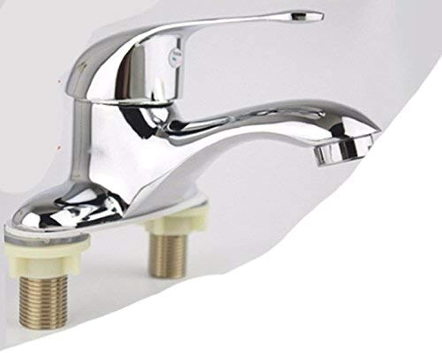Hhgold European style retro style copper three-hole wash your face hot and cold water tap
