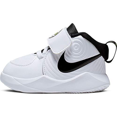 Nike Unisex-Baby Team Hustle D 9 (TD) Basketball Shoe, White/Black-Volt, 27 EU