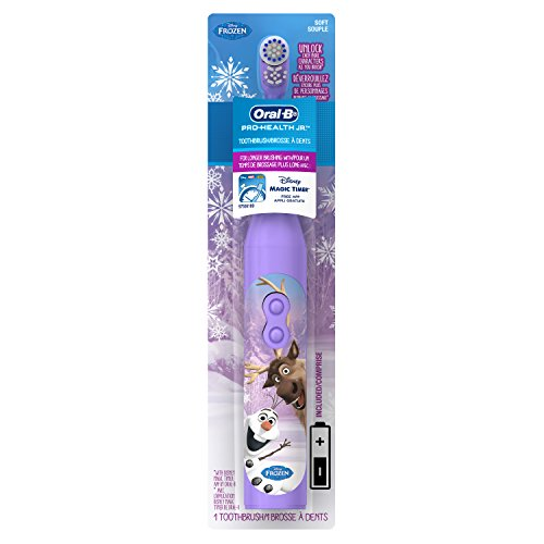 Oral-B Pro-Health Jr. Battery Powered Kid's Toothbrush featuring Disney's Frozen, Soft, 1 ct, Multi