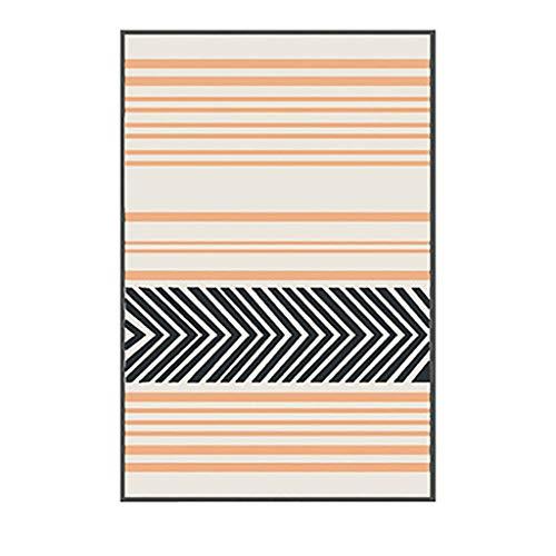 HLD Woonkamer tapijt eenvoudige geometrische salontafel mat kleine verse Japanse stijl slaapkamer kamer tapijt rechthoek Tapijtpads (Color : E, Size : 80 * 160CM)