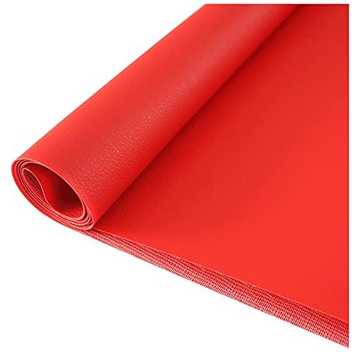 NIUFHW Cuero artificial hecho de cuero sintético impermeable hojas de piel sintética se pueden utilizar para hacer pendientes, accesorios para el cabello, carteras y manualidades (color: rojo)