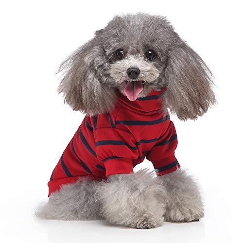 Disfraz de perro blusa de cuello alto con rayas de color primavera, verano, ropa cómoda para interior y exterior