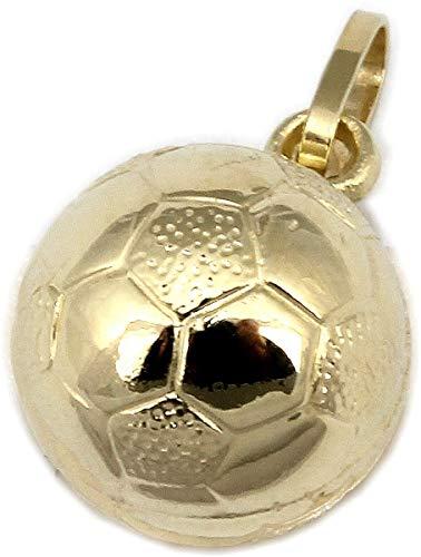 Anhänger Fußball in Gold 333 WM Ball 8 Karat Gelbgold Unisex