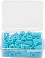 100pcs Anillo de código dental esterilizable en autoclave, círculo de código de identificación de instrumento de silicona, círculo de marca de desinfección de teléfono móvil, suministros dentales