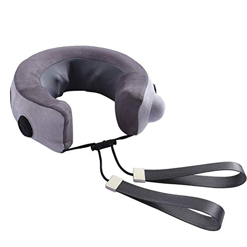 ZXY En Forma de U del Cuello Almohada de Masaje, masajeador de Forma de U Almohada Inflable de Tipo pulsador multifunción portátil estéreo 6D Amasado de Cuello de útero