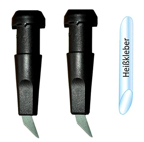 Unbekannt SBC WIDIA HARTMETALL ROLLERSPITZEN 11 mm (1 Paar) inkl. Heißkleber Nordic Blading ROLLSKI Spitze Skike
