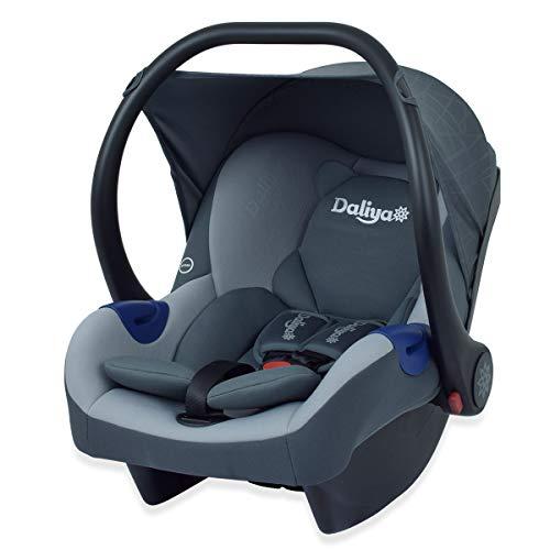 Daliya® Cariyo Babyschale fürs Auto 0-13 kg Gruppe 0+ Baby-Autositz ab Geburt auch passend für Daliya Turniyo Kinderwagen (Dunkel Grau)