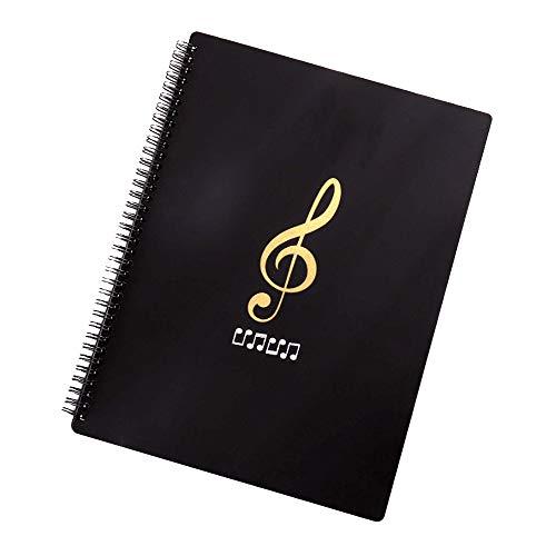 Notenblattordner Song Datei Notenschlüssel Papier Aufbewahrung Dokumente Halter Tasche Blanko Kunststoff Konzert Chorordner A4 30 Taschen für Musiker und Band, wasserdicht, Blattaufbewahrungsmappe (B)