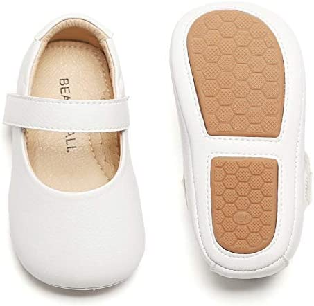 Felix Flora Soft Sole Leather White Baby Shoes Infant Baby Walking Shoes Moccasinss Rubber Sole product image