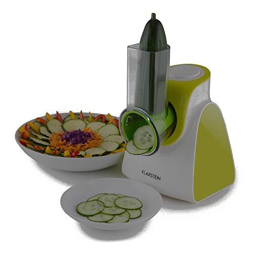 Klarstein Carrot  Rock Mandolina de cocina cortador de verduras electrico 150W potencia 5 accesorios Rallador Rebanador apto fruta o queso verde
