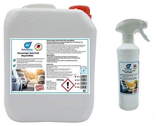 KaiserRein Auto KFZ Glasreiniger Scheibenreiniger mit Lotuseffekt Spray 0,5 L Sprayflasche Leer + 5 L Kanister gebrauchsfertig zum nachfüllen