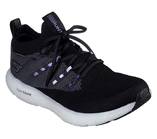 Skechers Womens GOrun 7 Black/Purple Running Shoe - 7