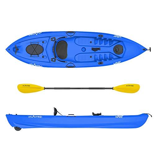 ATLANTIS Kayak-Canoa Wave Blu cm 305-2 gavoni - schienalino - pagaia - ruotino - portacanna