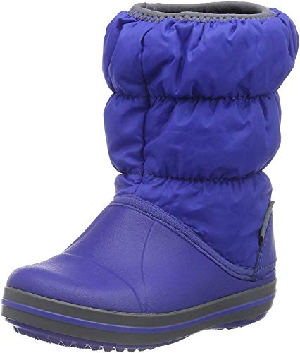 Crocs Winter Puff Boot Kids, Unisex - Kinder Schneestiefel, Blau (Cerulean Blue/Light Grey), 27/28 EU