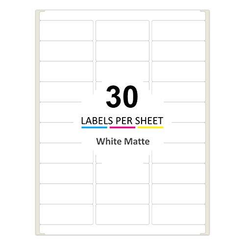PACKZON Address Labels for Laser & Inkjet Printers, 2.625 x 1 Inch (3000/100 Sheets)