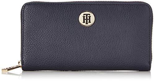 Tommy Hilfiger Damen Th Core Lrg Za Wallet Geldbörse, Blau (Tommy Navy), 11x3x19 cm