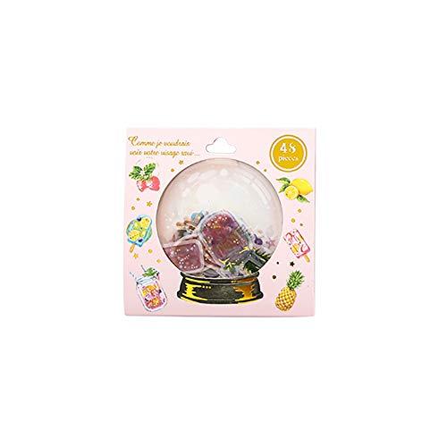 Qinlee Mini Etiketten Cartoon Aufkleber Umschlag Selbstklebende Handbuch Tagebuch Fotoalbum DIY Material Dekoration Sticker (Frucht)