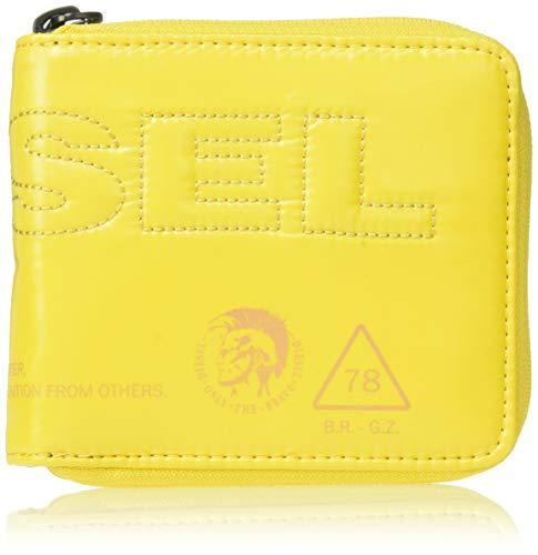 Diesel Herren THISWALLETISNOTATOY Zippy HIRESH S - Wallet Geldbörse, Super Lemon, Einheitsgröße