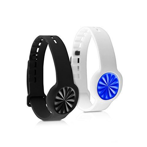 kwmobile Silicone Watch Strap Compatible with Jawbone UP Move - 2X Fitness Tracker Replacement Band - Sports Wristband Set