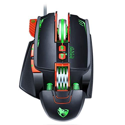 Huy Ursache Professionelle Gaming-Maus, 7-Tasten-DPI-einstellbare Optische Computer-LED, Gaming-Maus, USB-Kabel-Gaming, Kabel-Maus Für Laptop-Gaming-PC