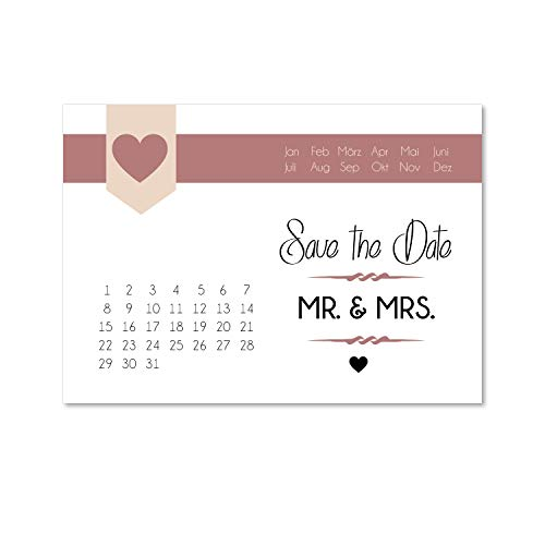 15 Postkarten Save the Date I dv_153 I DIN A6 I Set Hochzeit Wedding Einladungs-Karten Countdown
