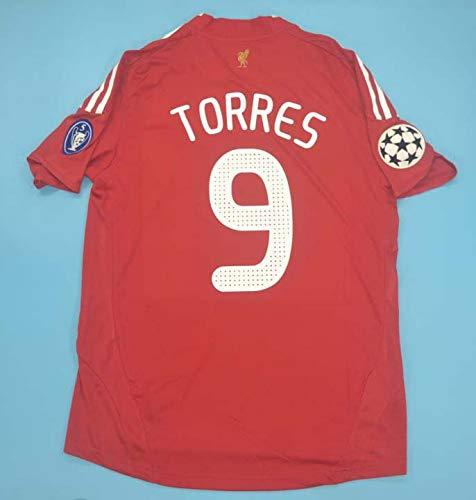 Fernando Torres#9 Retro Trikot 2008-2010 Champion League Patch RED Color (S)