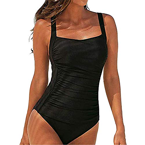 SEDEX Costume Intero Donna Push Up Monokini Sexy Costume da Bagno Donna Beachwear dello Swimwear Imbottito da Spiaggia Mare e Piscina Push up Swimsuit (Nero, 46-48)