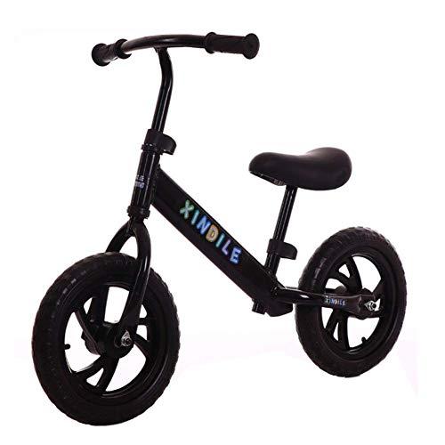 lquide Balance VéLo Rouge - Draisiennes, Balance Balance Sport Balance Bike pour Enfants sans GlissièRe à PéDale Baby Scooter 2-6 Ans, Black