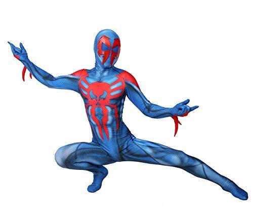 NVHAIM Spider Man 2099 Boys Ultimate Coolant, Costume Cosplay Costumi di Halloween Cosplay Costume Spiderman BLU E Rosso (XS-XL),Kids M