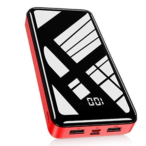 Bextoo 30000mAh Power Bank, Cargador portátil USB-C, Paquete de batería Externa con Pantalla Digital LCD, Carga de Alta Velocidad con Salida USB Dual para teléfonos Inteligentes, Tabletas y más