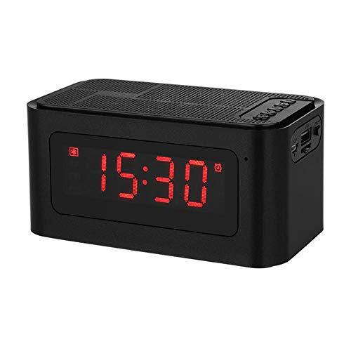 SHWYX Bluetooth luidspreker, draadloze draagbare LED stereo luidspreker steun TF-kaart FM-wekker MP3-speler