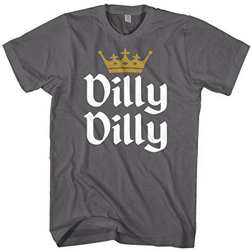 Mixtbrand Men's Dilly Dilly Gold Crown T-Shirt XL Charcoal