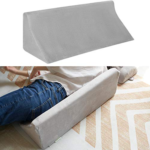 OasisSpace Bed Wedge Pillow for Sleeping, Back Positioning Elevation Pillow with Removal Cover, Bedroom Elevated Body Alignment Ankle Support Pillow Leg Bolster for Side Sleeper, Back Pain, Bed Sores