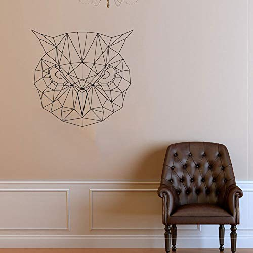 Tianpengyuanshuai Etiqueta de la Pared del búho geométrico Arte de la Pared Pegatina de Vinilo búho Origami geométrico Arte de la Pared 44x42 cm