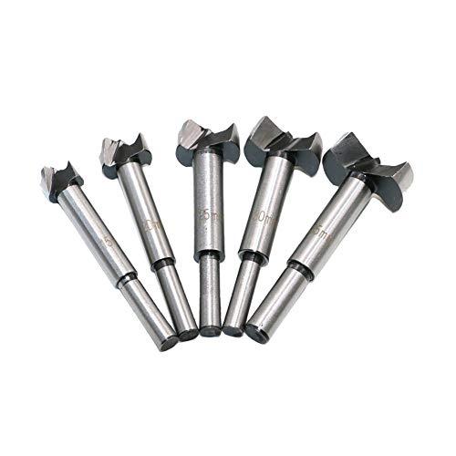 QQDEAL - Juego de 5 brocas para taladro Forstner de 15 a 35 mm de acero de...